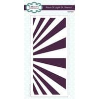 Creative Expressions DL Stencil - Rays of Light
